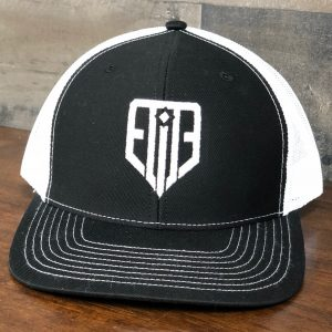 Elite Logo Hat Black/White Snap-Back