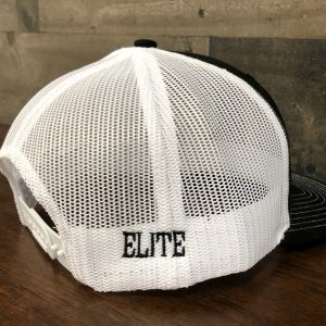 Elite Side Logo Hat Black/White Snap-Back