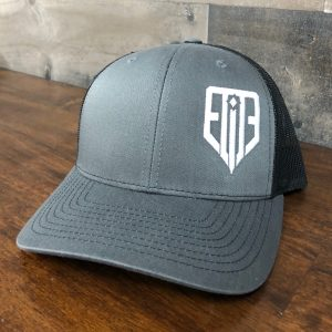 Elite Side Logo Hat Gray/Black Snap-Back